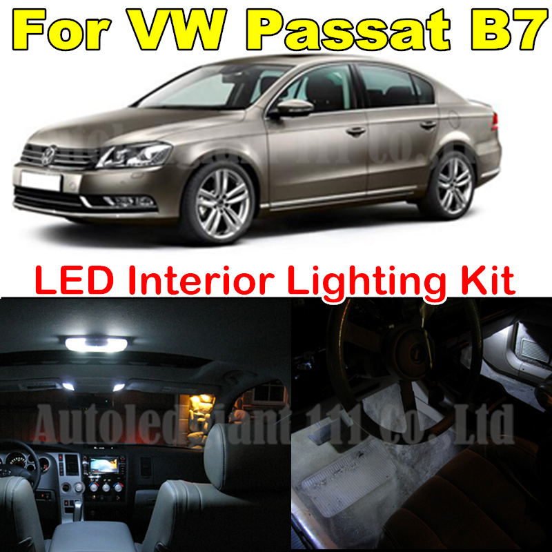 13X Canbus Cold White Light 36mm W5W Bulb Volkswagen VW B7 Passat LED Interior light Kit Package 2012 2013 2014 - WLJH Carparts Store store