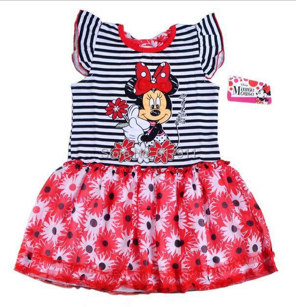 lot 2015 girls summer minnie dress clothing kids brand cartoon tutu children's - Fashion Kids store