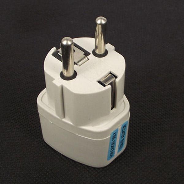 Universal Travel Power Plug AU UK US to EU AC Power Socket Plug Travel Charger Adapter Converter 10A White(China (Mainland))