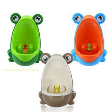 Free Shipping PP Frog Children Stand Vertical Urinal Wall-Mounted Urine Groove Kids Baby Urinal New Promotion Good Packing(China (Mainland))