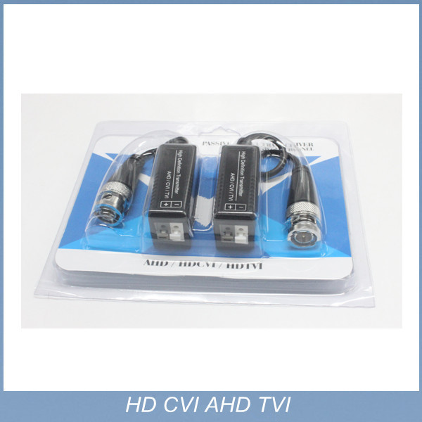 100 pairs 720P 1080P CCTV UTP AHD Video Balun cat5 with BNC Connector balun transceiver for camera(China (Mainland))