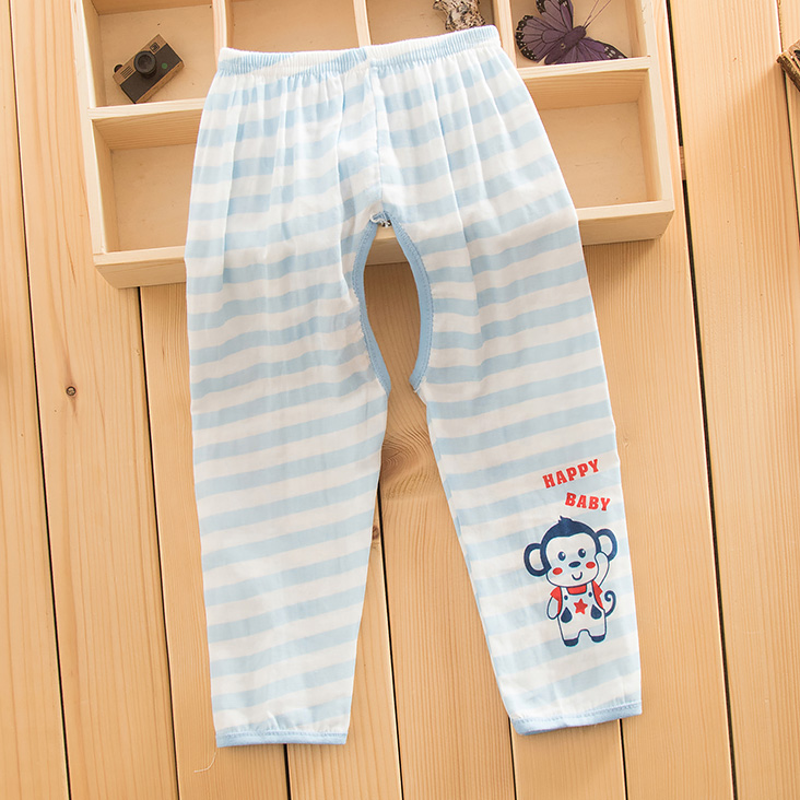 Summer baby cotton gauze to open files of trousers for men and women baby absorbent breathable gauze pants children's gauze pant(China (Mainland))