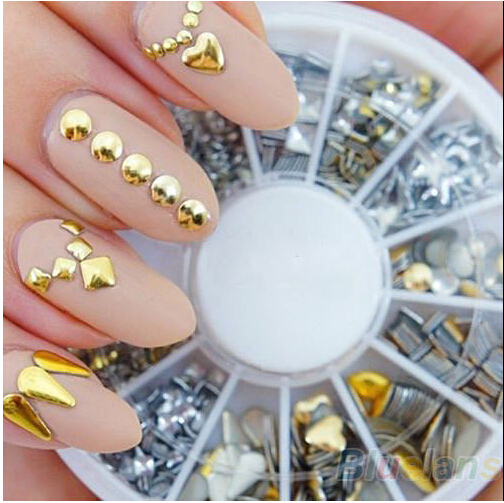 FREE-SHIPPING-6-Styles-Silver-Gold-3D-Glitter-metal-nail-art ...