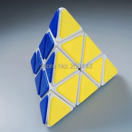 QJ Pyraminx Magic Cube Plastic Tile - White Speed Puzzle Yantai Tianhu Technology Co, Ltd. store