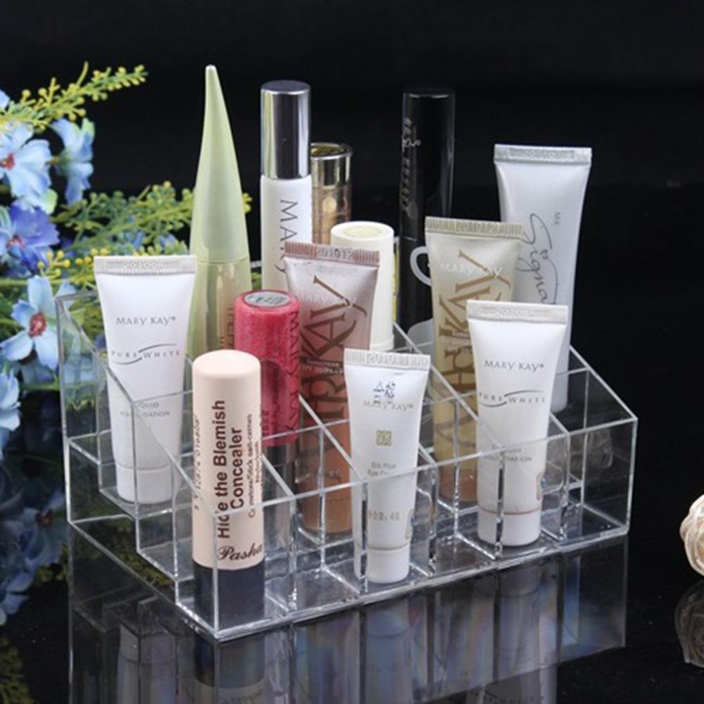 24 Lipstick Holder Display Stand Clear Acrylic Cosmetic Organizer Makeup Case Sundry Storage makeup organizer organizador - Shenzhen SuperDeal Technology Co., Ltd. store