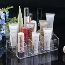 24 Lipstick Holder Display Stand Clear Acrylic Cosmetic Organizer Makeup Case Sundry Storage makeup organizer organizador(China (Mainland))