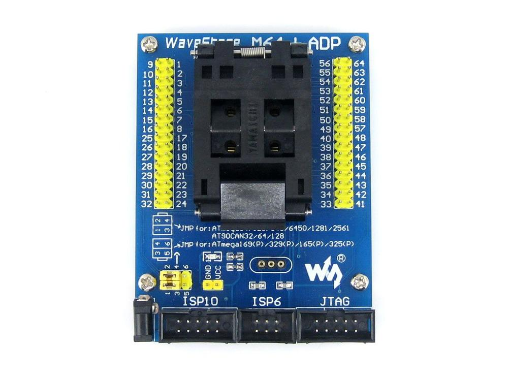 Modules M64+ ADP AVR Programming Adapter IC Test Socket for ATmega64 ATmega128 TQFP64(China (Mainland))