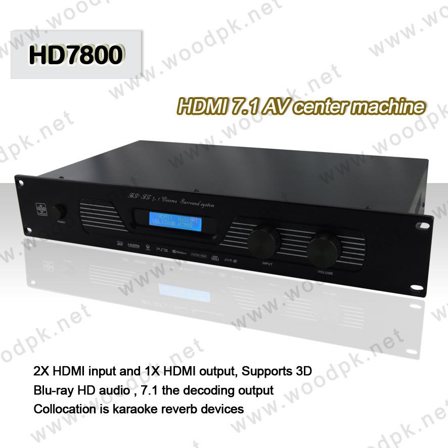 Good selling #HD7800 Coaxial Optical 7.1 Audio Decoder HIFI 3D version Karaoke and cinema mode(China (Mainland))