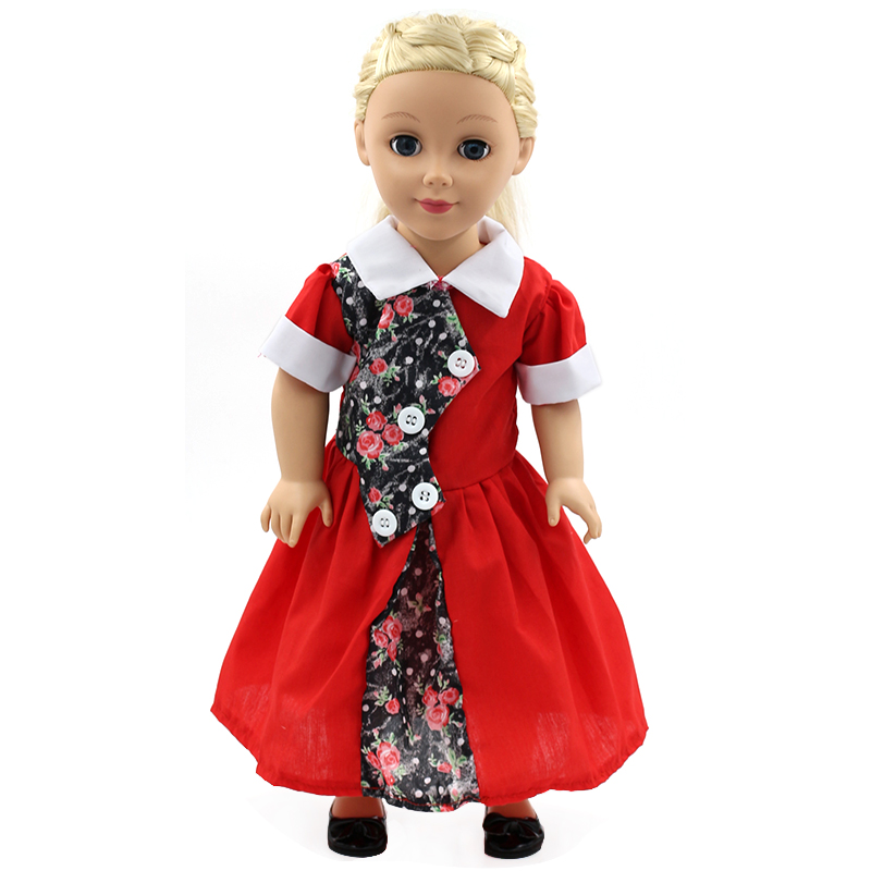 My Generation Doll Clothes Multicolor Princess Dress Doll Clothes for 18 inch Dolls American Girl Doll Accessories 15Colors D-14(China (Mainland))