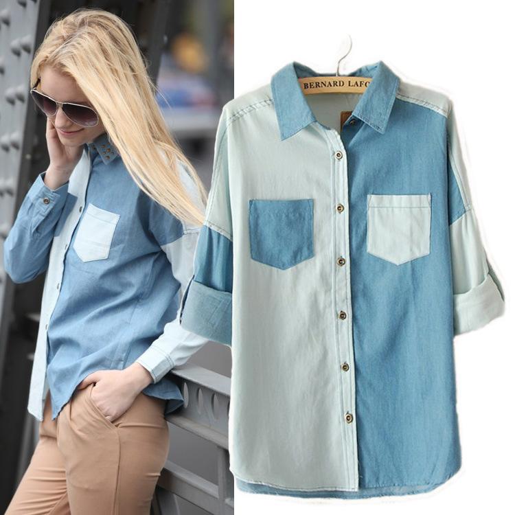 New 2014 Women Autumn shirt fashion all match long sleeve ...