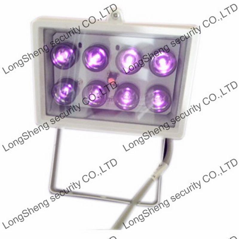 60M Infrared Illuminator 8pcs Array Led IR Light 850nm for CCTV Camera 30/45/60/90 Degree can be choose