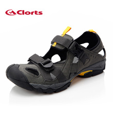 2016 Clorts Free Shipping Sandals Outdoor Platform Shoes Summer Beach Shoes Soft Walking Shoes Colour Black For Men SD-206C