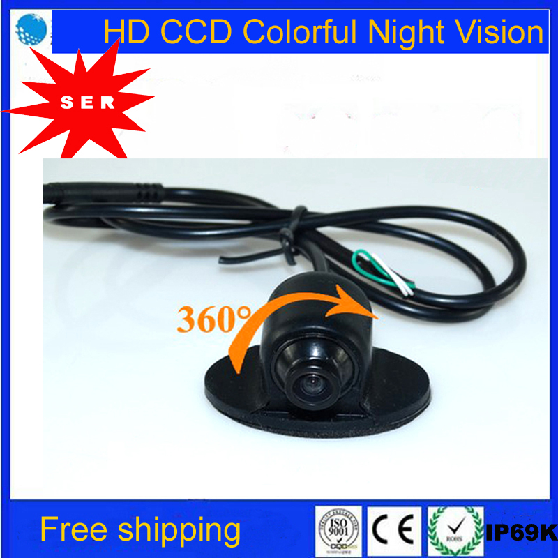 Factory Promotion MINI CCD HD Night Vision 360 Degree Car Rear View Backup Camera Front Camera Front View Side Reversing Camera(China (Mainland))