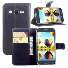 PU Leather Wallet Cases for Samsung Galaxy Core Prime Case G360 Flip Cover Stand Magnetic Capa Para Win 2 Duos + Card Holder