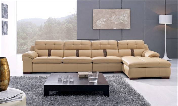 Free Shipping Modern Home Furniture 2013 Living Room Furniture Top Grain Leather L Shaped Corner