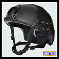 M LG Black Deluxe NIJ level IIIA 3A FAST Bulletproof Helmet Worm Dial With HP White