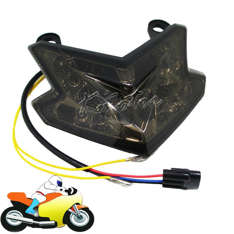 Smoke Motorcycle LED Tail Light Rear Lamp with Turn Signal for Kawasaki Z800 NINJA ZX6R ZX636 2013 2014<br><br>Aliexpress