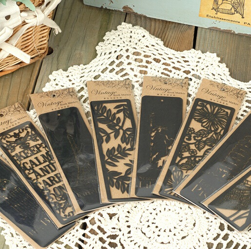 NEW Vintage World Hollow style Series black bookmark/Creative Book marks/nice gift/Wholesale<br><br>Aliexpress