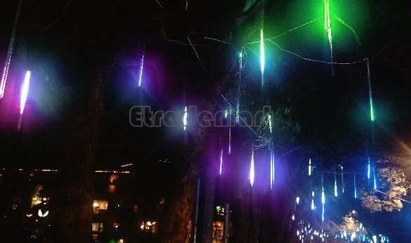 50CM RGB LED Meteor Lights Shower Rain Tubes Square Garden Decoration Christmas LED Fairy Light 100-240V/US 22(China (Mainland))