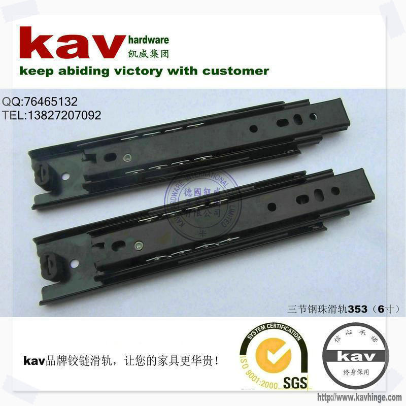 product kav Brand ( 35 W ) 6-inch three drawer ball bearing slide 353 duchas de colores