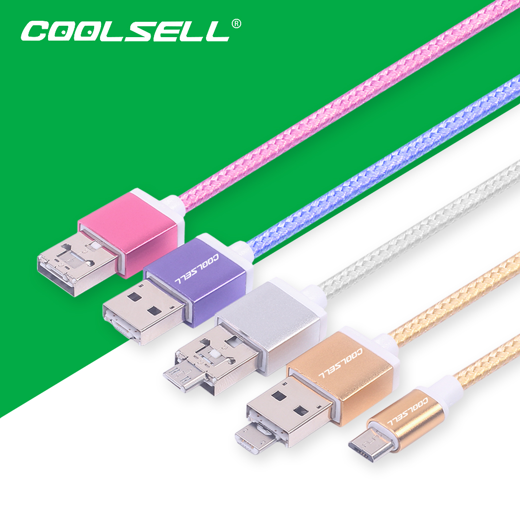 120cm 4ft OTG Micro USB Cable Fast Charging and Data Sync Cords for Universal Android Phone and Tablet Solid Woven Braided Cords(China (Mainland))