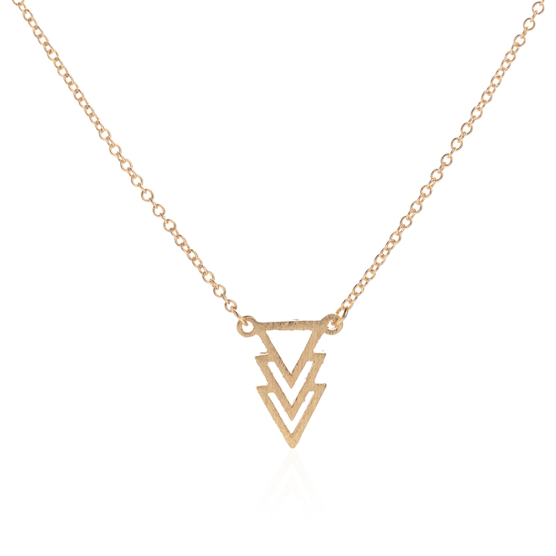 """2016 New Fashion Necklaces Cute Three Triangle Pendant Necklace Women 18"""" Chain Wedding Party Gifts"""