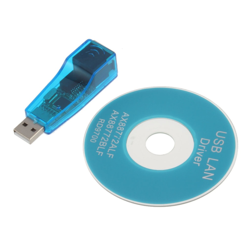 USB 1.1 To LAN RJ45 Ethernet 10/100Mbps Network Card Adapter For Win7 Win8 Android Tablet PC Blue Wholesale(China (Mainland))