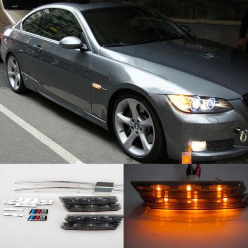 No Error Smoked Side Marker Lamps Amber LED Fit M-Sport BMW E81 E88 E90 E92<br><br>Aliexpress