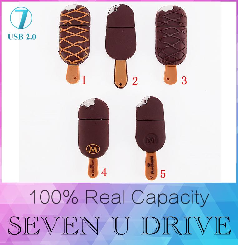 usb flash drive Ice Cream pen drive 512GB cartoon hot sale usb stick cute mini pendrive 4GB 8GB 16GB U disk flash card USD Flash(China (Mainland))