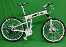 "26""x18"" inch aluminium hummer folding mountain bicycle,21 speed, disc brakes tall man folding bicycle bike(China (Mainland))"