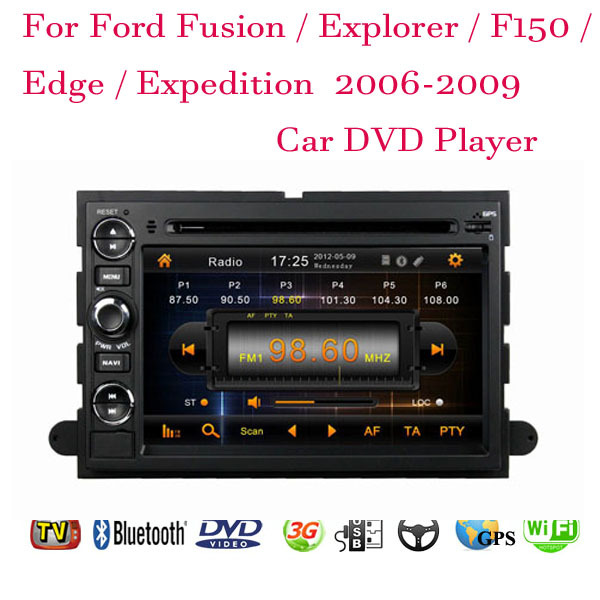 1024*600 Android 4.4.4 Fit Ford Fusion Explorer F150 Edge Expedition 2006 2007 2008 2009 Car DVD Player GPS TV 3G Radio WiFi(China (Mainland))