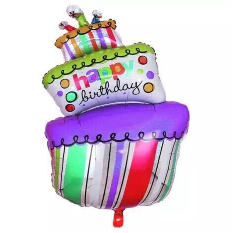 Large Size Foil Balloons Happy Birthday party Decorations kids air Balls inflatable Ballons lovely Birthday Cake Party balloons<br><br>Aliexpress
