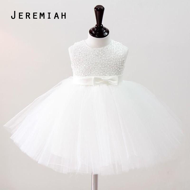 JEREMIAH Baby Girl Christening Gowns Kids Girls Wedding font b Dress b font Hand Beading Party