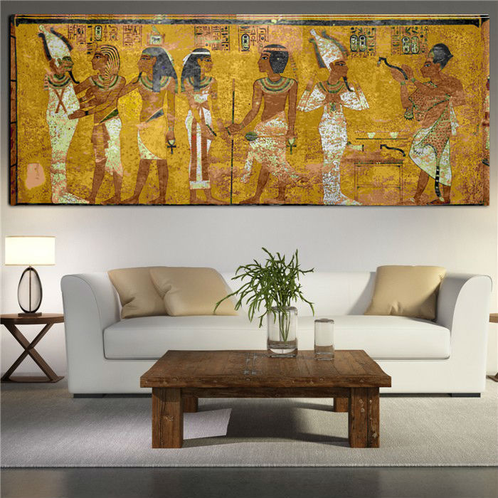 Egyptian Decor Canvas Painting Oil Painting Wall Pictures For Living Room Wall Decor Large Canvas Art no framed GA1033(China (Mainland))