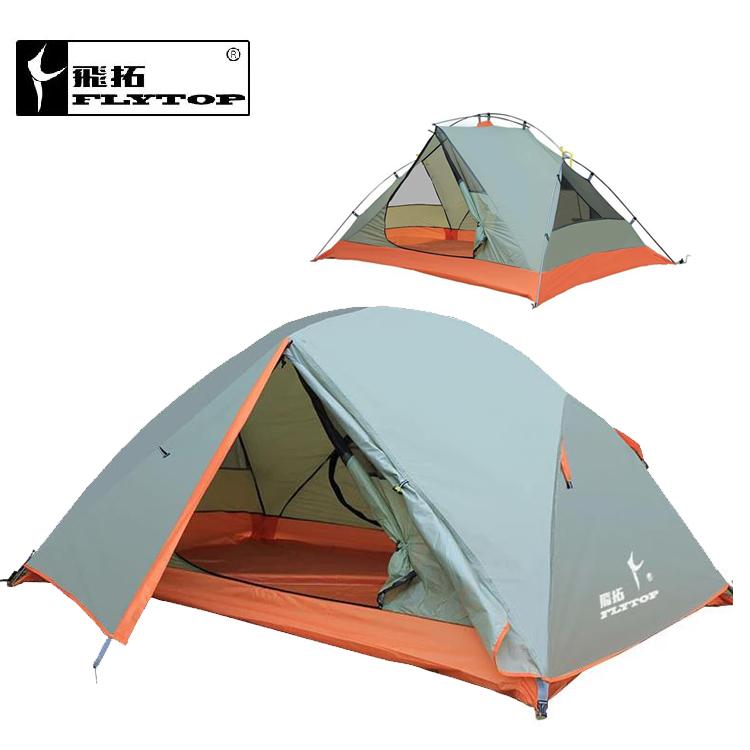 FLYTOP outdoor tent recreation barraca camping equipment tents travel waterproof double layer tent 2 people ultralight 2.3kg
