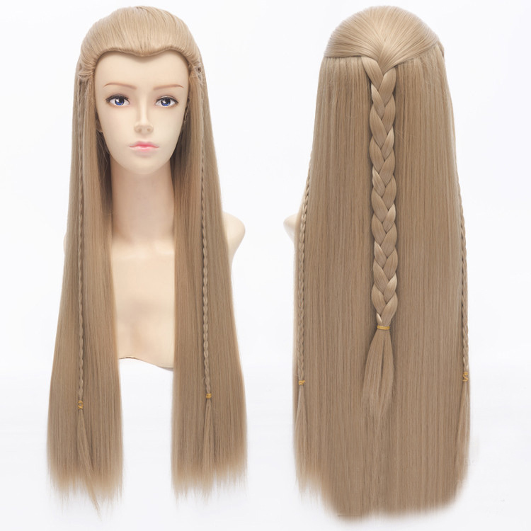 70cm 28inches The Lord of the Rings Legolas Greenleaf Straight Long Blonde Cosplay Wig with Braid
