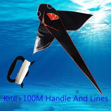 free shipping high quality shark kite 10pcs/lot with handle line cheap kite fabric ripstop kite factory wholesale umbrella kite(China (Mainland))