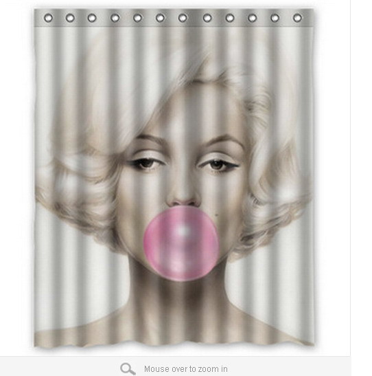 hot-sale-Marilyn-Monroe-Blow-Bubbles-Fashion-bath-curtain-60-72inch ...