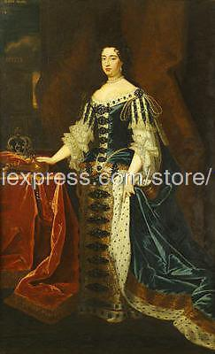 Sir Godfrey Kneller Portrait Of Queen Mary hand painted chinese decorative painting us acrylic garden decoration Bathroo(China (Mainland))
