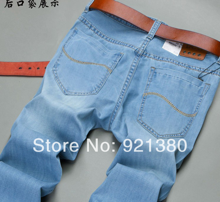 Retail Men's spring and summer style jeans brand denim jeans,Men's jeans pants high quality 2015 New fashion leisure casual(China (Mainland))
