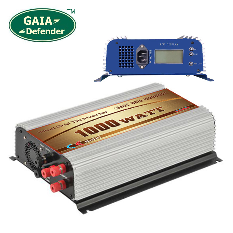 1000W Wind Grid Tie Inverter with LCD/Dump Load Controller for 22-60v wind turbine AC 110V 120V 3 phase generator(China (Mainland))