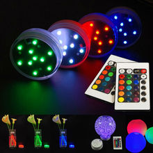 7CM diameters AAA Battery Multicolors LED Waterproof Vase Light paper lantern light for wedding Party Centerpiece LED Light Lamp