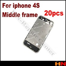 20pcs 100% OEM Chassis New Full Parts Middle Frame Bezel Assembly Midframe Housing For iPhone 4S 4GS Replacement parts(China (Mainland))