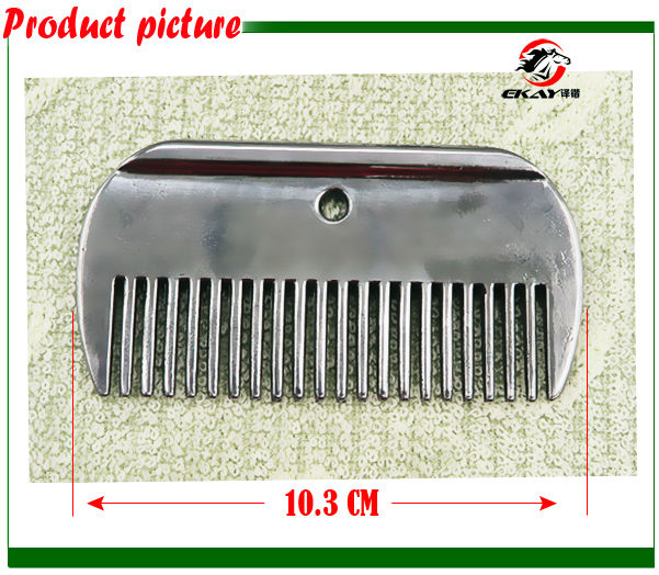 Free shipping Aluminum horse comb ,hand polished.Never rusted horse curry comb,horse grooming accessory(CB9058)(China (Mainland))