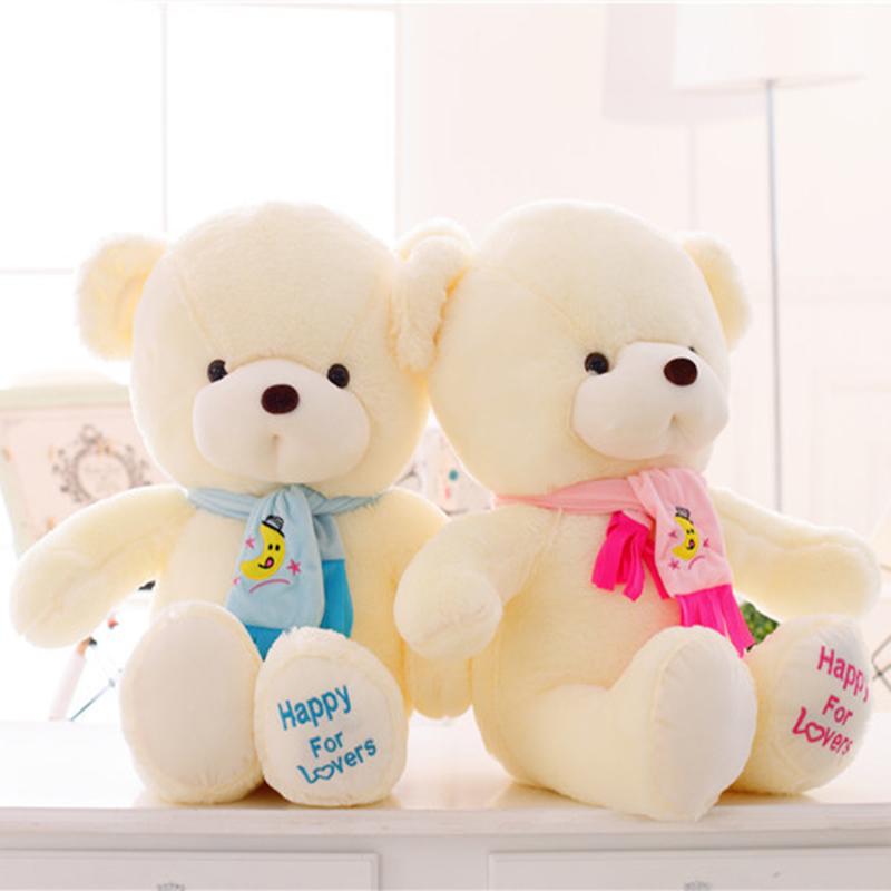 lovely stuffed toys 30 45 65cm giant stuffed teddy bear plush toys with scarf cheap teddy bear. Black Bedroom Furniture Sets. Home Design Ideas