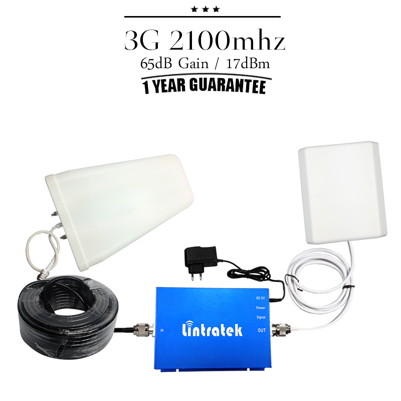 One Set 3G WCDMA 2100 Mobile Signal Booster 2100mhz Cell Phone Amplifier 65dB 3G UMTS Cellular Signal Repeater For Home Office(China (Mainland))