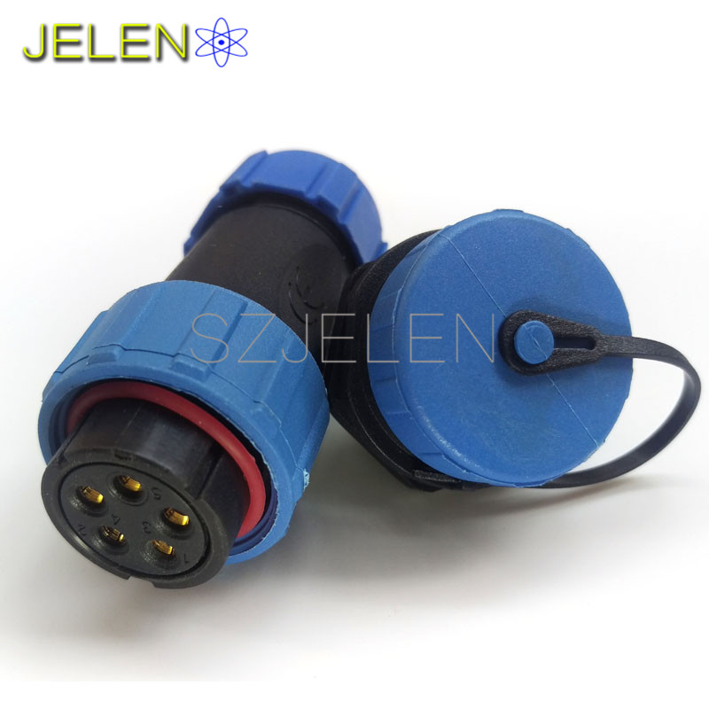 SP2110, waterproof and strong, power cable wire power connector 5 pin plug socket , device power connector, LED connectors 5pin(China (Mainland))