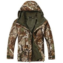 New Hot Military waterproof Warm Windbreaker 3in1 Jacket double layer Fashion Ski Hunting jackets winter(China (Mainland))