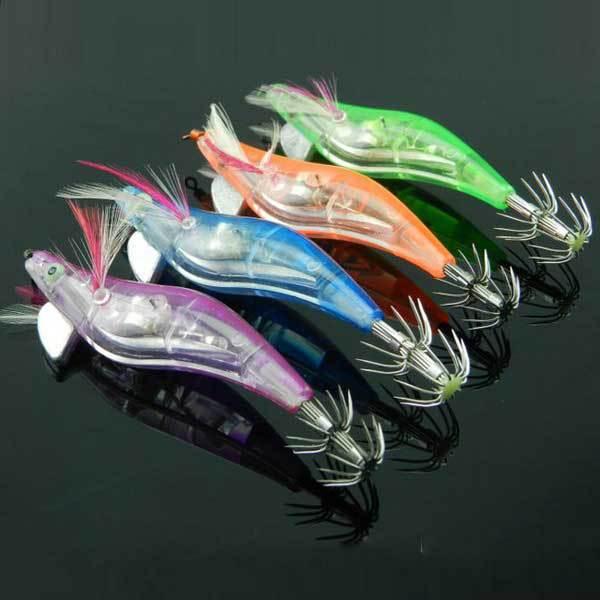Hanksville Electronic Luminous Shrimp Lure Squid Fishing Jigs Lures Bass Bait(China (Mainland))