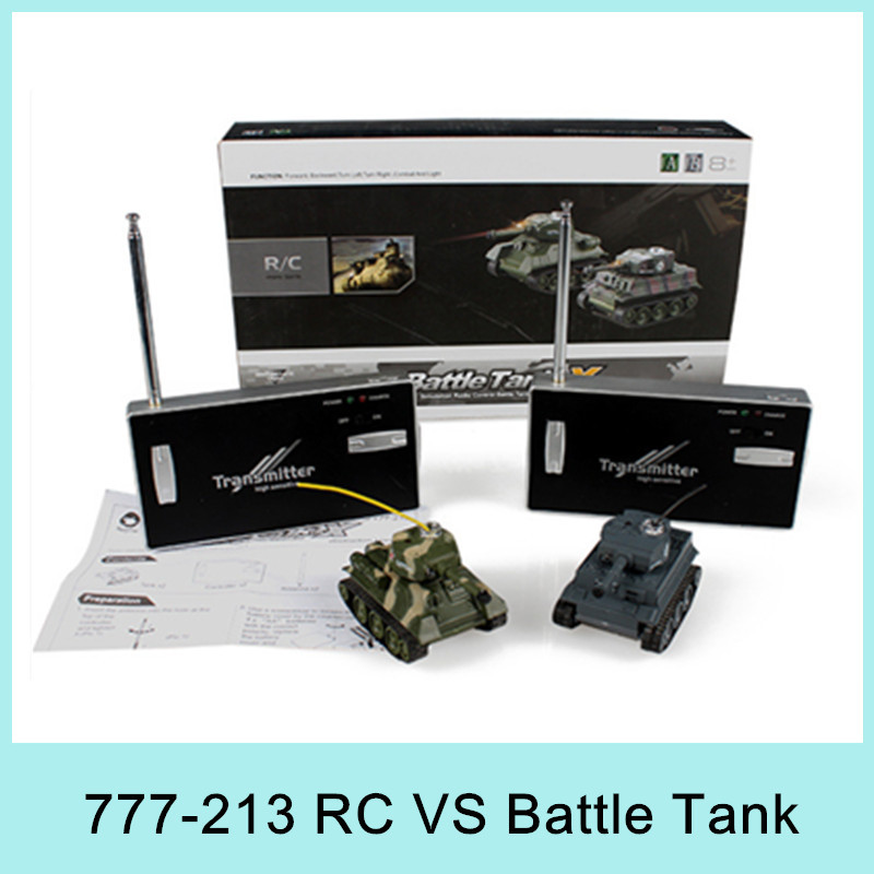 777-213 Two Fighting VS Battle System Tanks RC Tank Electric Toys PK Mini Army Tank Remote Control Toys Best Gift For Kids 2015(China (Mainland))
